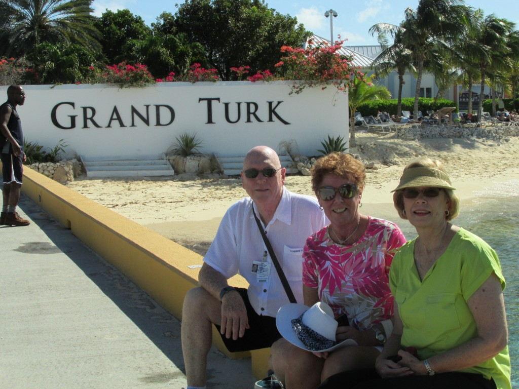 15.01.05 Grand Turk Pier and the 3 of us.