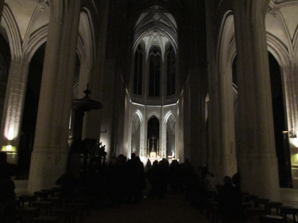 15.02.18 St Gervais Interior at Night Ash Wednesday